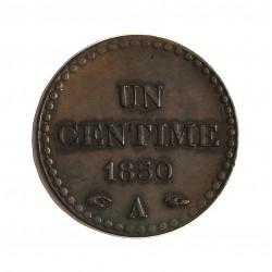 Francia 1  Cts.  1850. A-(Paris). AE. 2gr. Ø18mm. SC-/SC. (Bonito tono). MUY RARO/A. en esta conservacion. KM. 754 - GAD. 84