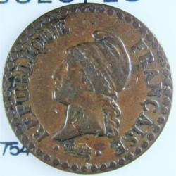 Francia 1  Cts.  1851. A-(Paris). AE. 2gr. Ley:0,000. Ø18mm. MBC. (Tono). MUY ESCASO/A. KM. 754 - GAD. 84