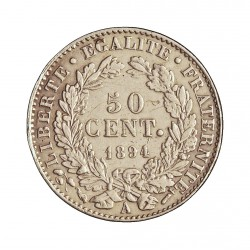 Francia 50  Cts.  1894. A-(Paris). AG. 2,5gr. Ley:0,835. (Tip.Ceres). Ø18mm. EBC. KM. 834.1