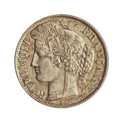 Francia 50  Cts.  1895. A-(Paris). AG. 2,5gr. Ley:0,900. Ø18mm. MBC+. KM. 834.1