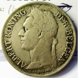 Congo Belga-(1909/1960) 1 Francos. 1926. CUNI. 10gr. (Ley.Flamenca). Ø28,8mm. MBC-. KM. 21