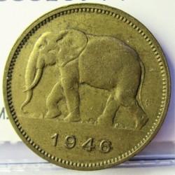 Congo Belga-(1909/1960) 2 Francos. 1946. BRASS. 4,8gr. Ø22mm. MBC+. KM. 28