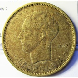 Congo Belga-(1909/1960) 5 Francos. 1937. AE. 13gr. Ø33mm. MBC. KM. 24