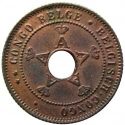 Congo Belga-(1909/1960) 1 Cts. 1910. CU. 2gr. Ø18mm. SC-/SC. (Patina). KM. 15