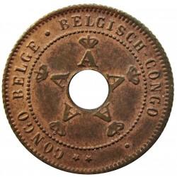 Congo Belga-(1909/1960) 1 Cts. 1919. CU. 2gr. Ø18mm. SC-/SC. (Patina). KM. 15
