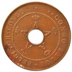 Congo Belga-(1909/1960) 2 Cts. 1910. CU. 4gr. Ø22,5mm. SC-/SC. (Patina.). KM. 16