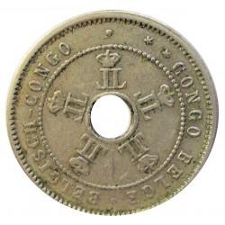 Congo Belga-(1909/1960) 5 Cts. 1909. CUNI. 2,5gr. Ø18,5mm. EBC/EBC+. ESCASO/A. KM. 12