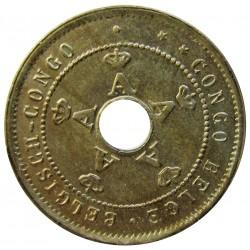 Congo Belga-(1909/1960) 5 Cts. 1911. CUNI. 2,5gr. Ø18,5mm. SC-/SC. KM. 17