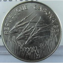 Gabon 100 Francos. 1972. (a). NI. 7,04gr. Ø25mm. EBC. KM. 12