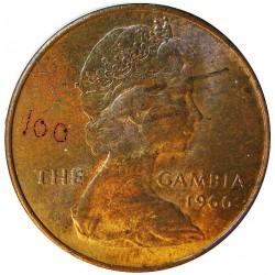 Gambia 1 Penny. 1966. CU. 5,67gr. (Velero). Ø25mm. SC. KM. 1