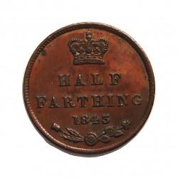 Gran Bretaña ½ Farthing. 1843. CU. 2,4gr. Ø17,5mm. SC-. (Patina). KM. 738