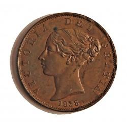 Gran Bretaña ½ Penny. 1838. CU. 9,6gr. Ø28mm. EBC/EBC+. (Hojitas saltadas). KM. 726