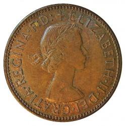 Gran Bretaña ½ Penny. 1957. AE. 5,75gr. Ø25mm. SC-/SC. (Lev.patina). KM. 896