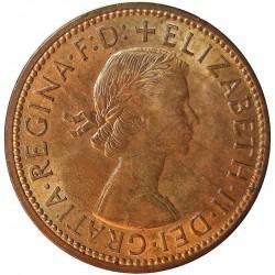 Gran Bretaña ½ Penny. 1963. AE. 5,71gr. Ø25mm. SC. KM. 896