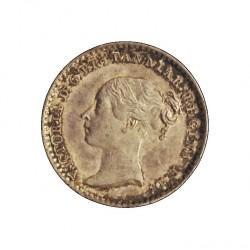 Gran Bretaña 1 Penny. 1841. AG. 0,47gr. Ley:0,925. Ø11mm. SC-/SC. (Lev.patina). KM. 727