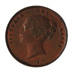 Gran Bretaña 1 Penny. 1854. CU. 19,2gr. Ø34mm. EBC/EBC+. (Marquitas). ESCASO/A. en esta conservacion. KM. 739