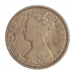 Gran Bretaña 1 Forint. 1873. AG. 11,31gr. Ley:0,925. Ø30mm. MBC-. KM. 746.2