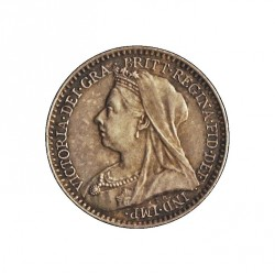 Gran Bretaña 1 Penny. 1901. AG. 0,47gr. Ley:0,925. Ø11mm. SC-/SC. (Lev.patina). KM. 775