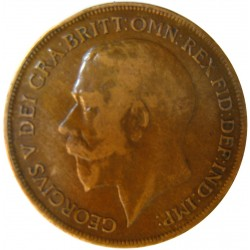 Gran Bretaña 1 Penny. 1920. CU. 9,65gr. Ø30mm. MBC. KM. 810