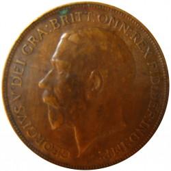 Gran Bretaña 1 Penny. 1921. CU. 9,65gr. Ø30mm. MBC. KM. 810