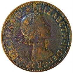 Gran Bretaña 1 Penny. 1962. AE. 9,56gr. Ø30,8mm. EBC+. (Patina oscura). KM. 897