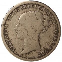 Gran Bretaña 3 Pence. 1887. AG. 1,414gr. Ley:0,925. Ø16mm. BC-/BC. KM. 730