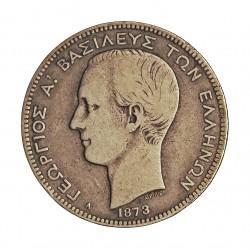 Grecia 2 DRACMA. 1873. A. AG. 10gr. Ley:0,835. Ø27mm. MBC-/MBC. KM. 39