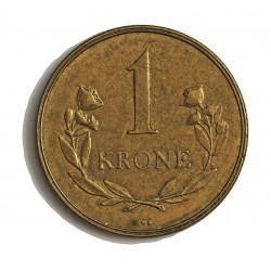 Groenlandia 1 Kroner. 1957. (h)-Heart. C.S. AL/AE. 7,5gr. (Moneda que circuló como estado de Dinamarca). Ø27mm. EBC/EBC+. RARO