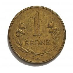 Groenlandia 1 Kroner. 1957. (h)-Heart. C.S. AL/AE. 7,5gr. (Moneda que circuló como estado de Dinamarca). Ø27mm. MBC. RARO/A. K