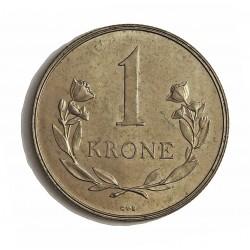 Groenlandia 1 Kroner. 1960. (h)-Heart. C.S. CUNI. 7,5gr. (Moneda que circuló como estado de Dinamarca 1953/79). Ø27mm. EBC+/SC