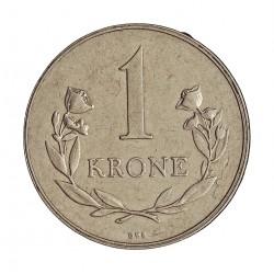 Groenlandia 1 Kroner. 1960. (h)-Heart. C.S. CUNI. 7,5gr. (Moneda que circulo como estado de Dinamarca 1953/79). Ø27mm. MBC+. E
