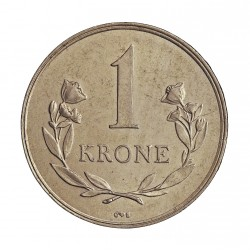Groenlandia 1 Kroner. 1964. (h)-Heart. C.S. CUNI. 7,5gr. Ø27mm. EBC/EBC+. MUY ESCASO/A. y mas en esta conservacion. KM. 10.a