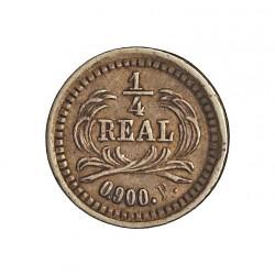 Guatemala ¼ Reales. 1872. (P). AG. 0,77gr. Ley:0,900. Ø11mm. EBC. KM. 146