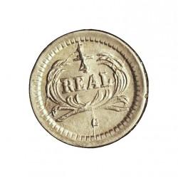 Guatemala ¼ Reales. 1878. (G. pequeña). AG. 0,77gr. Ley:0,835. Ø11mm. SC-/SC. (Tono original). KM. 146a.3