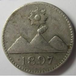 Guatemala ¼ Reales. 1897. AG. 0,77gr. Ley:0,835. Ø11mm. EBC/EBC+. KM. 162