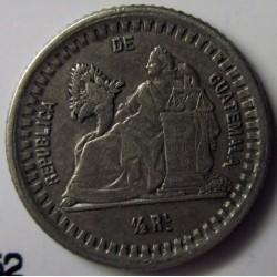 Guatemala ½ Reales. 1878. D. AG. 1,5gr. Ley:0,835. Ø15mm. MBC+/EBC-. KM. 152