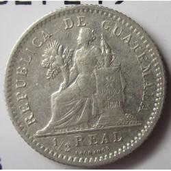 Guatemala ½  Reales. 1896. AG. 1,5gr. Ley:0,835. Ø15mm. EBC/EBC+. KM. 165