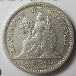 Guatemala ½ Reales. 1899. AG. 1,5gr. Ley:0,835. Ø15mm. EBC/EBC+. KM. 170