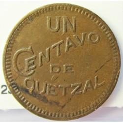 Guatemala 1 Ctvo. 1925. CU. 3gr. Ø19,5mm. EBC-. KM. 237