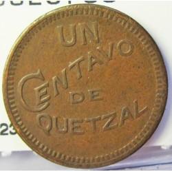 Guatemala 1 Ctvo. 1925. AE. 3,2gr. Ø20mm. MBC+/EBC-. KM. 237a