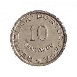 Guinea Bisau-(Portuguesa) 10 Ctvo. 1973. AL. 0,5gr. Ø15mm. SC. (Tono original). MUY ESCASO/A. y mas en esta conservacion. KM.