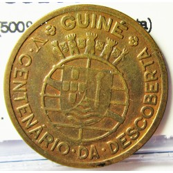 Guinea Bisau-(Portuguesa) 50 Ctvo. 1946. AE. 3,8gr. (500º Anv.Descubierta). Ø23mm. MBC+. KM. 6