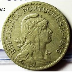 Guinea Bisau-(Portuguesa) 1 Escudos. 1933. CUNI. 7,5gr. Ø26,5mm. MBC/MBC+. ESCASO/A. KM. 5