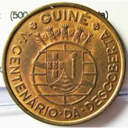 Guinea Bisau-(Portuguesa) 1 Escudos. 1946. AE. 7,7gr. (500º Anv.Descubierta). Ø26mm. SC-/SC. (Casi todo su tono original). KM.
