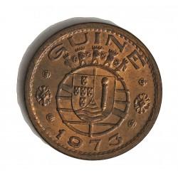 Guinea Bisau-(Portuguesa) 1 Escudos. 1973. AE. 7,7gr. Ø26mm. SC. (Tono original). RARO/A. en esta conservacion. KM. 14