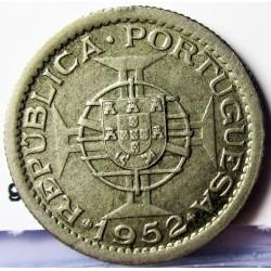 Guinea Bisau-(Portuguesa) 2,5 Escudos. 1952. CUNI. 3,5gr. Ø20mm. MBC/MBC+. KM. 9