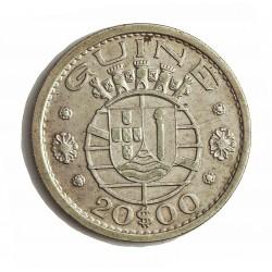 Guinea Bisau-(Portuguesa) 20 Escudos. 1952. 10gr. Ø30mm. MBC+. MUY ESCASO/A. KM. 11