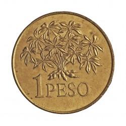 Guinea Bisau-Rep. 1 Pesos. 1977. AL/AE. 4gr. Ø21,5mm. SC-/SC. KM. 18