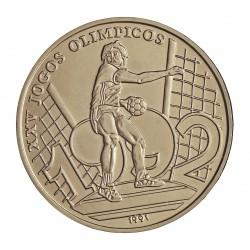 Guinea Bisau-Rep. 2000 Pesos. 1991. CUNI. 12,8gr. (Olimp.B'92-Hambol playa). Ø32mm. SC. KM. 28