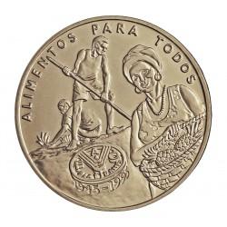 Guinea Bisau-Rep. 2000 Pesos. 1995. CUNI. 12,8gr. (FAO). Ø32mm. SC. KM. 38